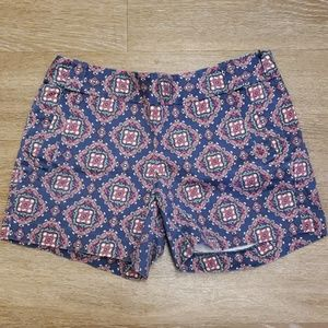 J Crew Factory Purple Pink Paisley Shorts